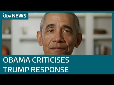 Barack Obama criticises Donald Trump's administration's Covid-19 response | ITV News