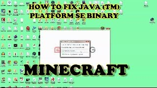 Minecraft problem Java Binary not responding (HOW TO FIX)