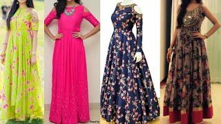 Beautiful long Kurta design ideas for Indian festivals/latest cold shoulder anarkali Kurta designs