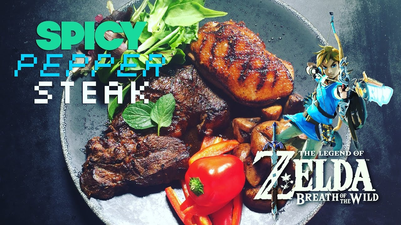 Spicy Pepper Steak from Zelda Breath of the Wild - How to ...