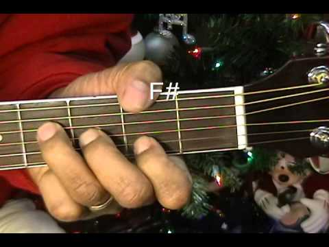 Elvis Presley Blue Christmas How To Play Lesson On Acoustic Guitar ...