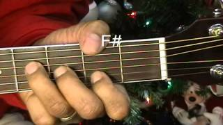 Elvis Presley Blue Christmas How To Play Lesson On Acoustic Guitar EricBlackmonGuitar