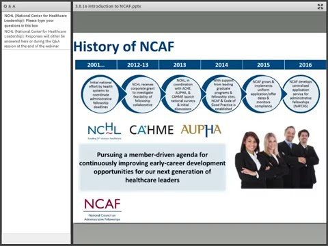 Introduction to the National Council on Administrative Fellowships (NCAF)