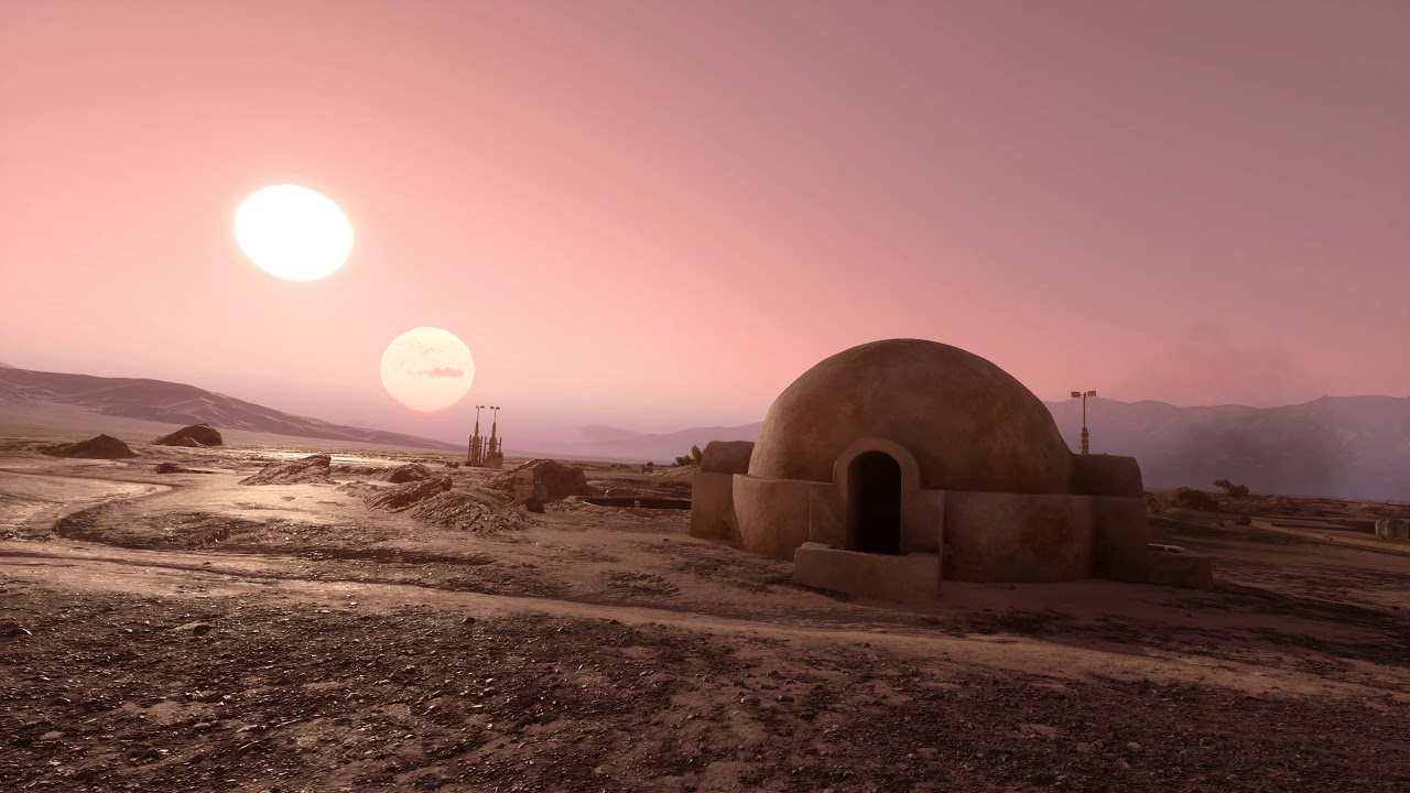Tatooine Desert Scene Star Wars Battlefront Live Wallpaper