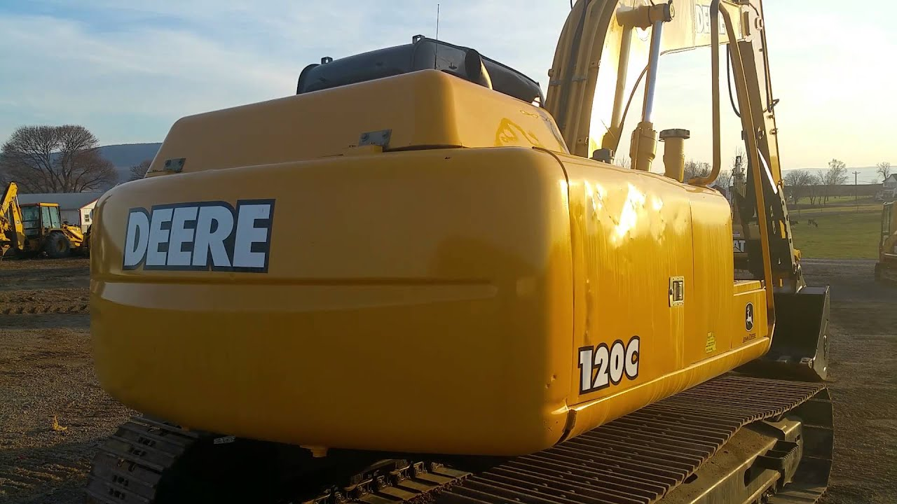 2005 John Deere 120C Hydraulic Excavator w\' Thumb, Low Hours For ...