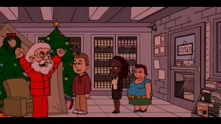 Caillou steals all Santa's presents/grounded for infinity