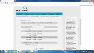 Como mudar o nome e senha roteador wifi  multilaser RE063, Re047