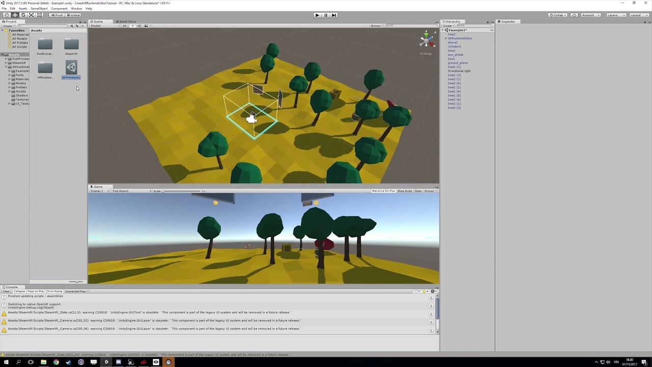 Cinext VR Runtime Editor