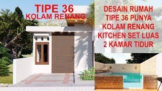 Desain Rumah Tipe 36 Punya Kolam Renang Lahan 6 X 16 Meter Youtube
