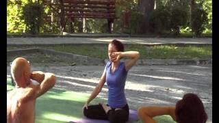 Катя Степанова, Янтра йога, 2-е занятие 07.09.11, Yoga Open Air