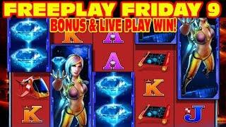 Diamond Hunt FREEPLAY FRIDAY 9 Slot Machine LIVE PLAY & BONUS WIN