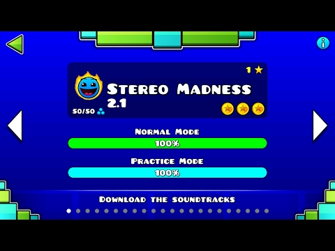 STEREO MADNESS 2.1 VER | Geometry Dash 2.1 : Stereo Madness 2017 - CastriX