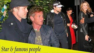 Brad Pitt, Bradley Cooper, andIrina Shayk at Sean Penn's book party
