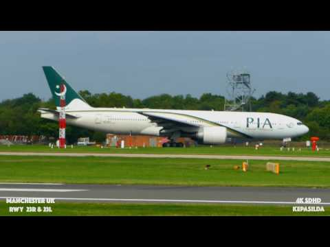 [4K] Manchester Airport, RWY 23R&L.Takeoff and Landing. Part-2