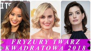 Nowoczesne fryzury do twarzy kwadratowej 2018