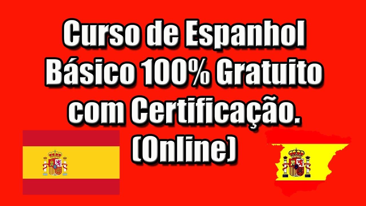Curso De Espanhol Básico 100 Gratuito Com Certificação Online