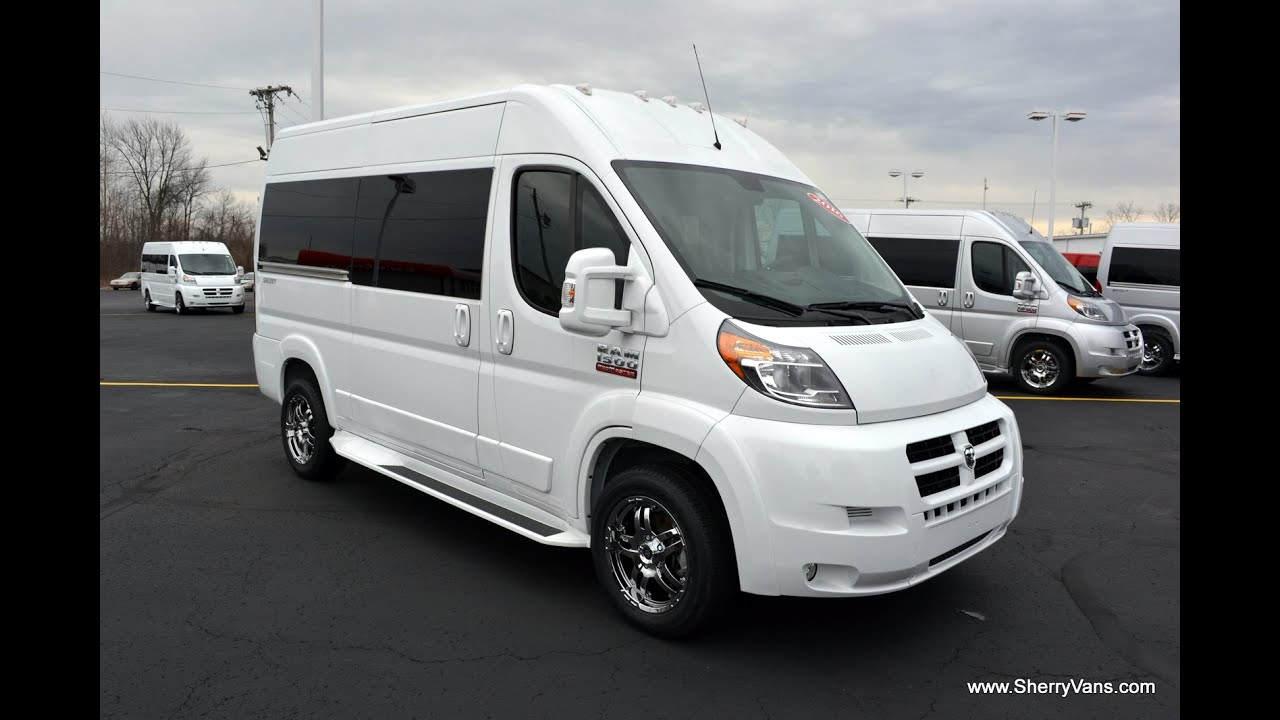 2016 Ram ProMaster 7 Passenger High Top Conversion Van By Sherry Vans