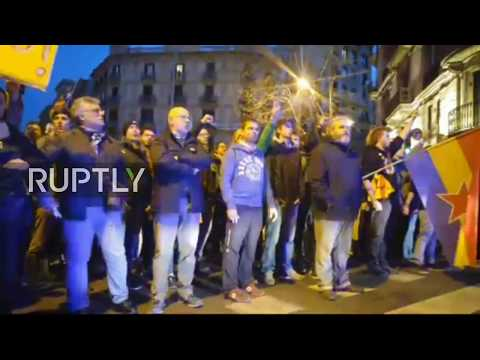 LIVE: Tensions flare at protest for independence in Barcelona