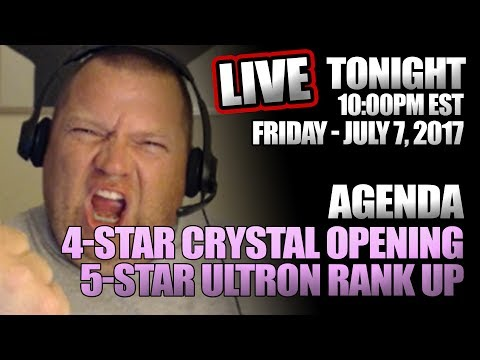 2017-07-07 || 4-STAR CRYSTAL OPENING || 5-STAR ULTRON RANK UP || Marvel: Contest of Champions