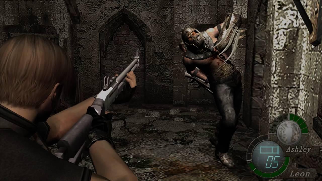 Resident Evil 4 - Garrador Fight - YouTube