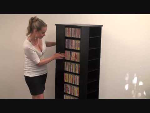 CD DVD Storage Rack / Revolving Media Tower  sc 1 st  YouTube & CD DVD Storage Rack / Revolving Media Tower - YouTube