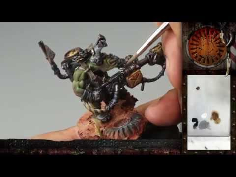 "PBCC 001 ""Ork Burna Boy"" Part 3: Painting awesome free-hand oven-gloves :D"