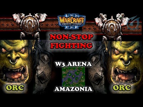 Grubby | Warcraft 3 The Frozen Throne | Orc v Orc - Non-Stop Fighting - Amazonia