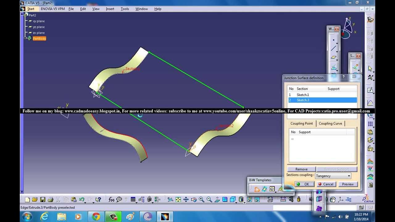 Catia V5 Tutorial Generative Shape Design Advanced Surface