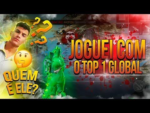 JOGUEI COM O TOP GLOBAL 1 DO FREE FIRE - FT: SanderTV