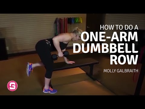 One Arm Dumbbell Row How To Do A One Arm Dumbbell Row