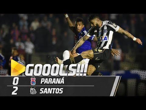 Paraná 0 x 2 Santos | GOLS | Brasileirão (09/09/18)