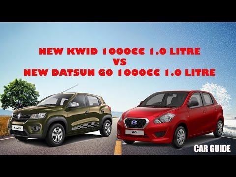 Renault Kwid 1000cc vs New Datsun Go 1000cc, 1.0 litre  car comparison,