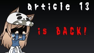 WATCH THIS !! ARTICLE 13 IS BACK !!  READ DESCRIPTION !#saveyourinternet #article13 #stoparticle13