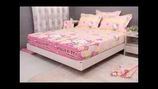 5pcs Kids Bedding Sets For Girls All Cotton Sheets Duvet Cover ; Hello Kitty Bed Set