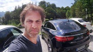 Rijden met de Mercedes-AMG 63 S GLE Coupé en 2 hele snelle Mini