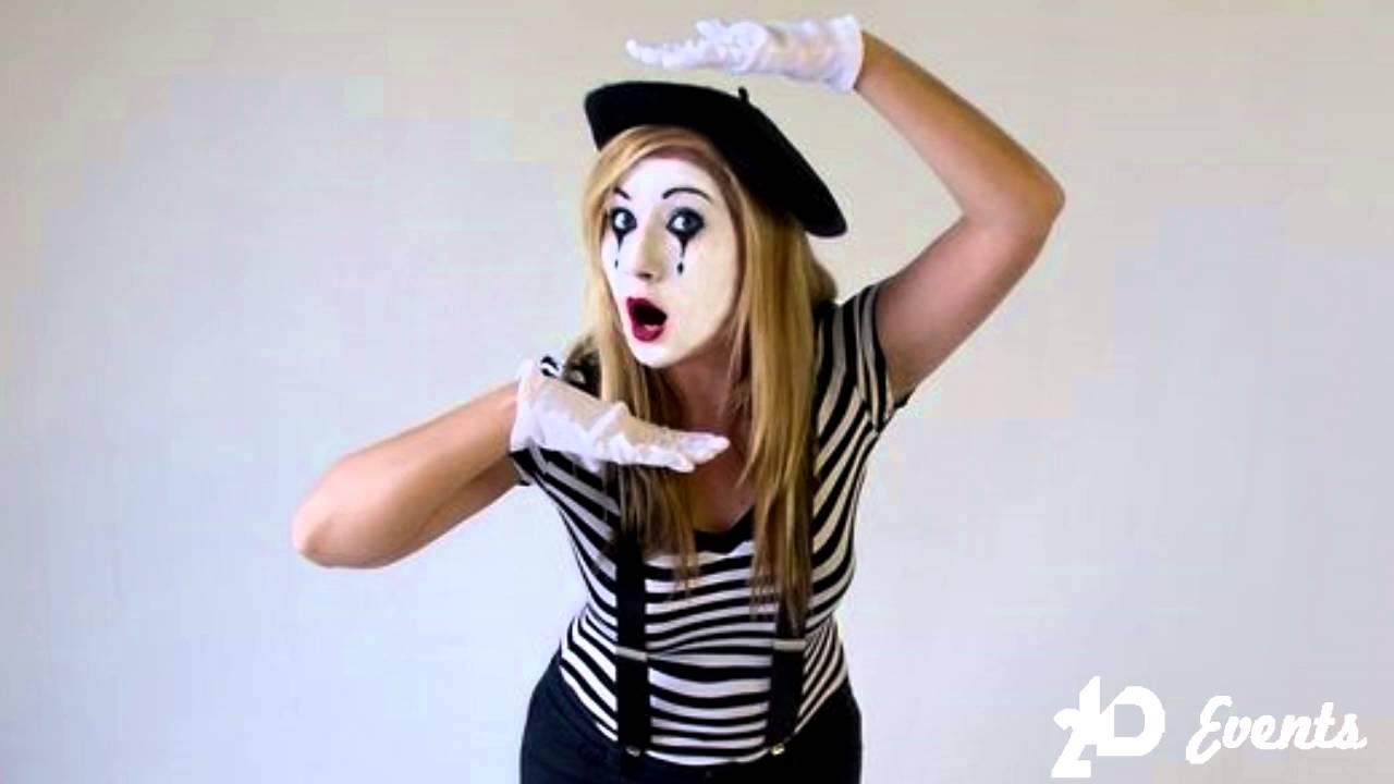 female mime in the uae youtube