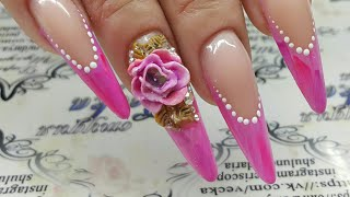 Дизайн ногтей. Объемная лепка пластилин. 4д гель. Гель-пластилин