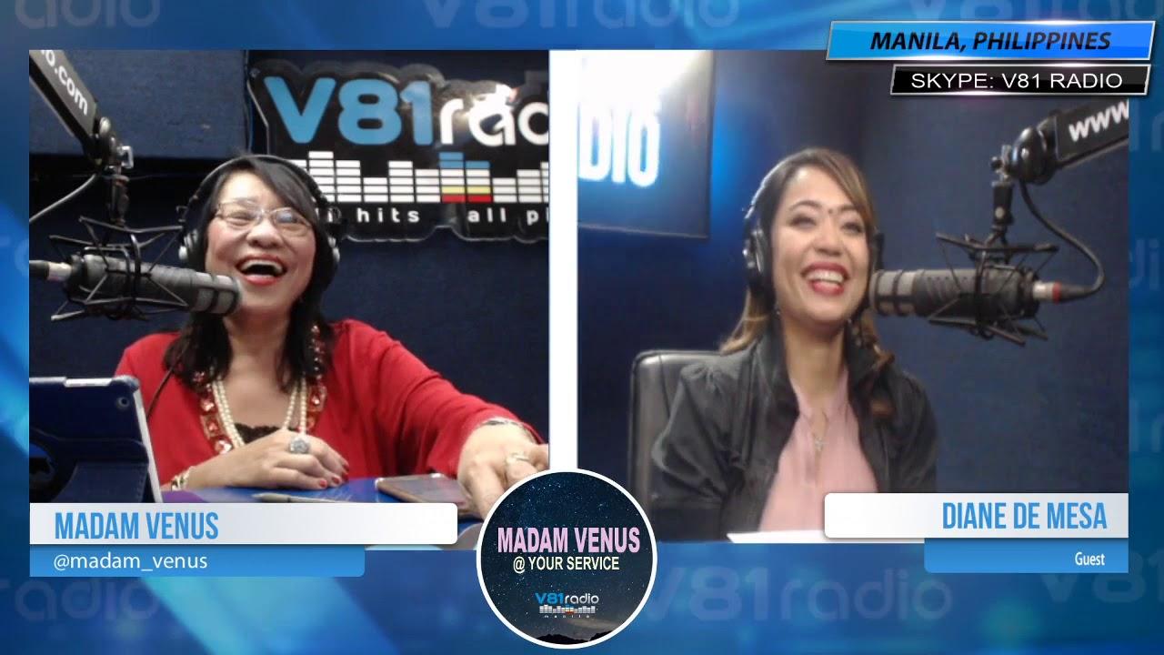 """Guesting @ V81 Radio for """"Madam Venus at your service""""_1/16/20 Thank you for having me, Madam Venus!"""