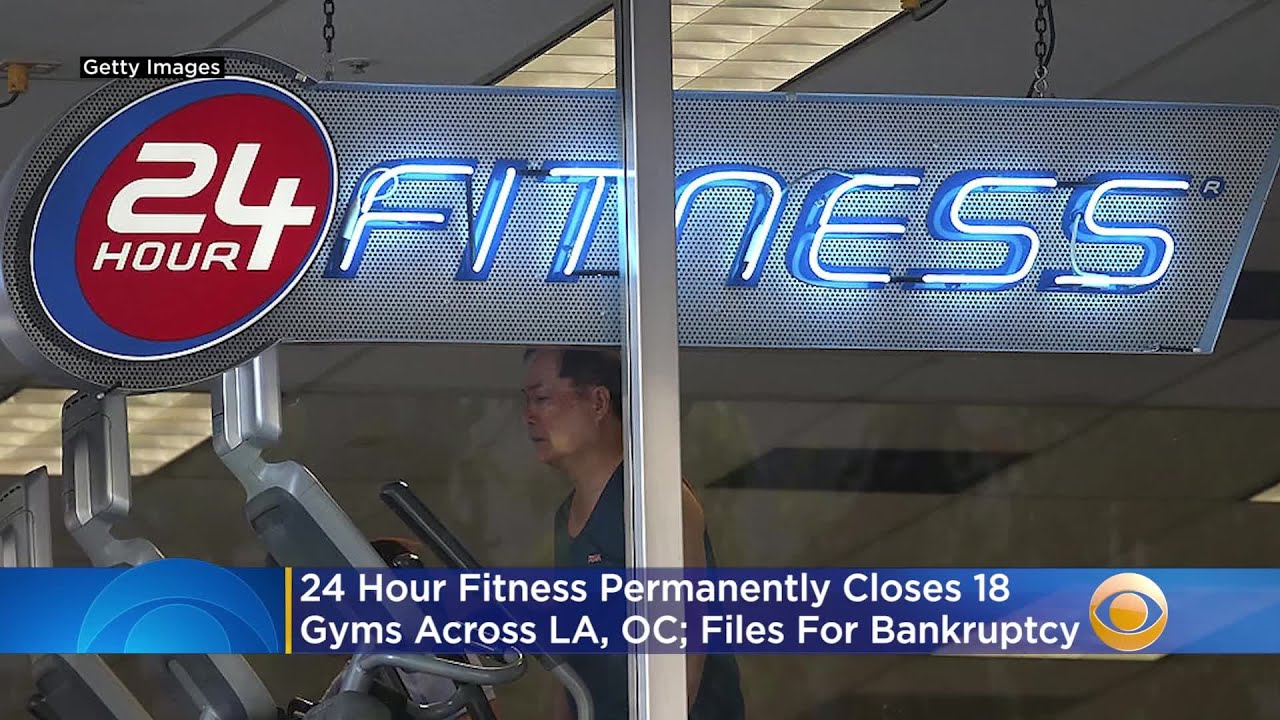 24 Hour Fitness files for bankruptcy, closes more than 100 gyms