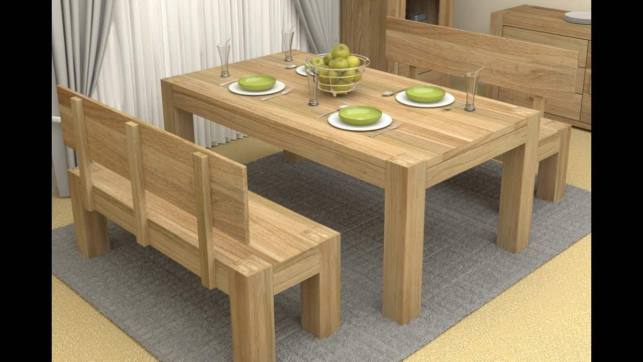 Dining table with bench dining table with bench and storage youtube Breakfast table with bench