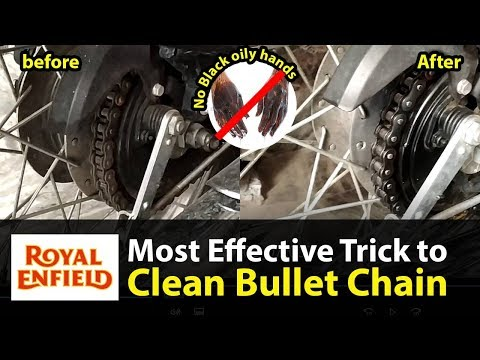 How to Clean & Lube Royal Enfield Classic 350 Chain effectively