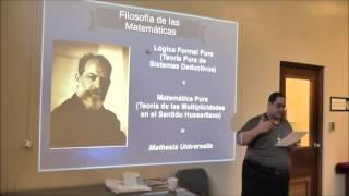 """Pedro Rosario Barbosa """"Las ciencias formales en el ámbito de la física contemporánea"""" 1/3"""