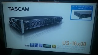 TASCAM US-16x08 USB2 Audio interface - Speedy Unboxing & Overview (From Scan Computers)