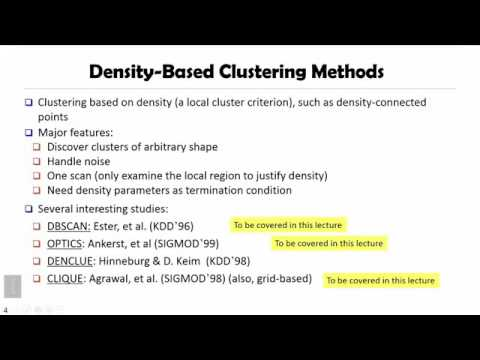 DATA MINING   5 Cluster Analysis In Data Mining   5 1 Density Based And Grid Based Clustering Method