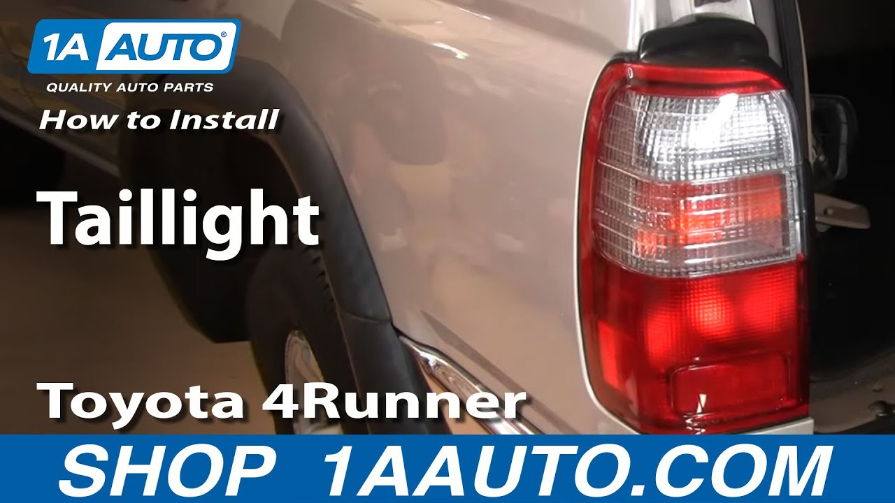 how to replace tail light 96 00 toyota 4runner [ 1280 x 720 Pixel ]
