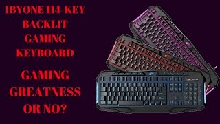1byone 114 key backlit wired gaming keyboard with media shortcuts unboxing and review