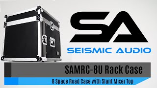 Seismic Audio SAMRC-8U Rack Case with Slant Mixer Top (Official)