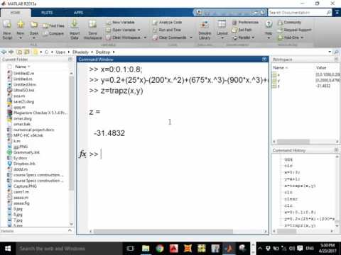 Cairo LEC.2 MATLAB(while loop, differentiation, integration ,trapezoidal, bisection method (GUI))