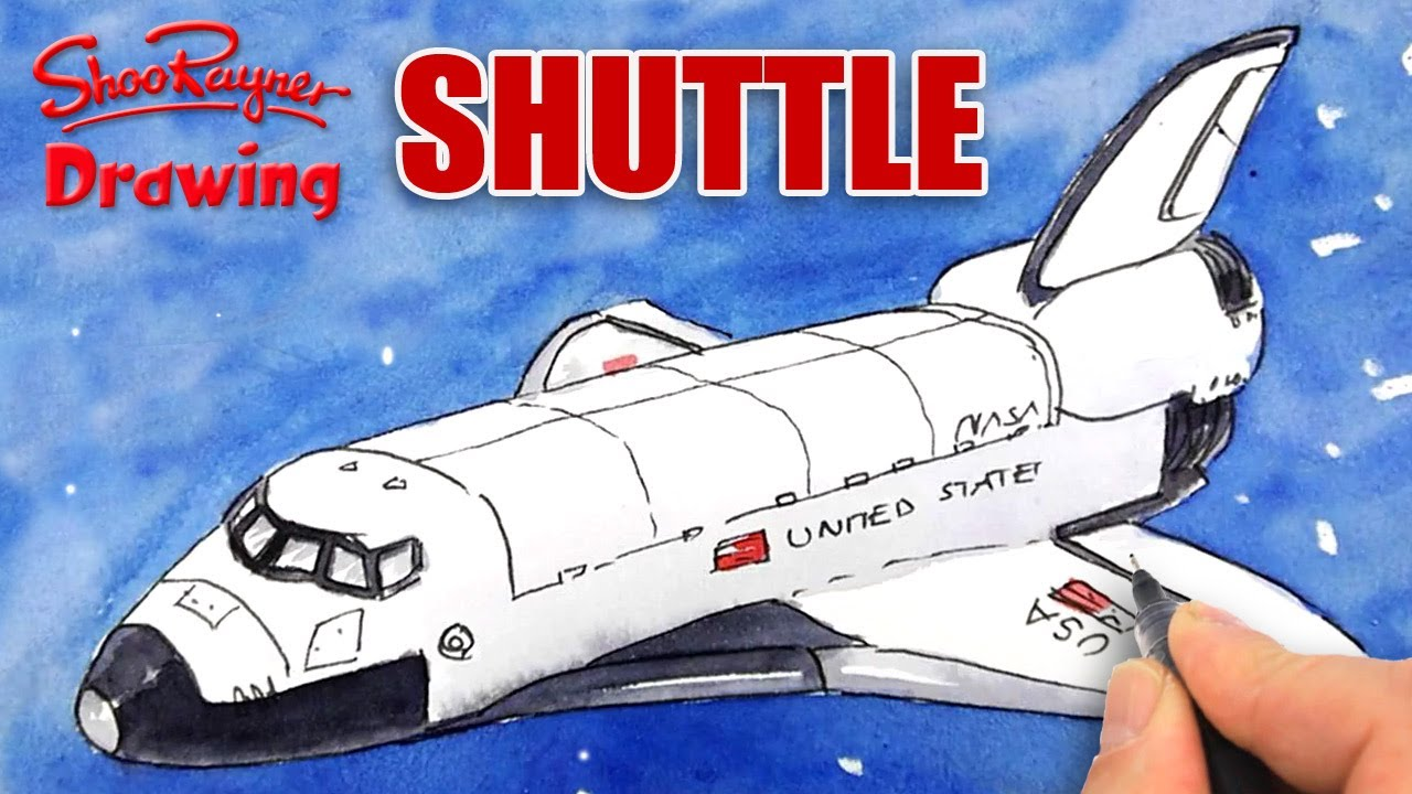 How To Draw The Space Shuttle