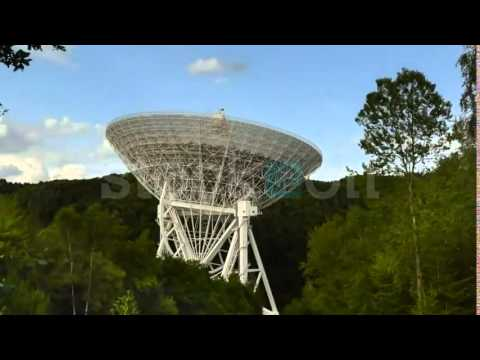 Huge radio telescope move time lapse 11469   Stock Video Footage